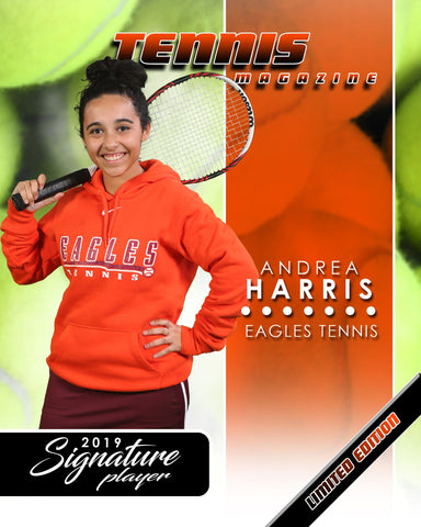 Signature Player - Tennis - V1 - Extraction Magazine Cover Template Downloadable Template Photo Solutions PSMGraphix