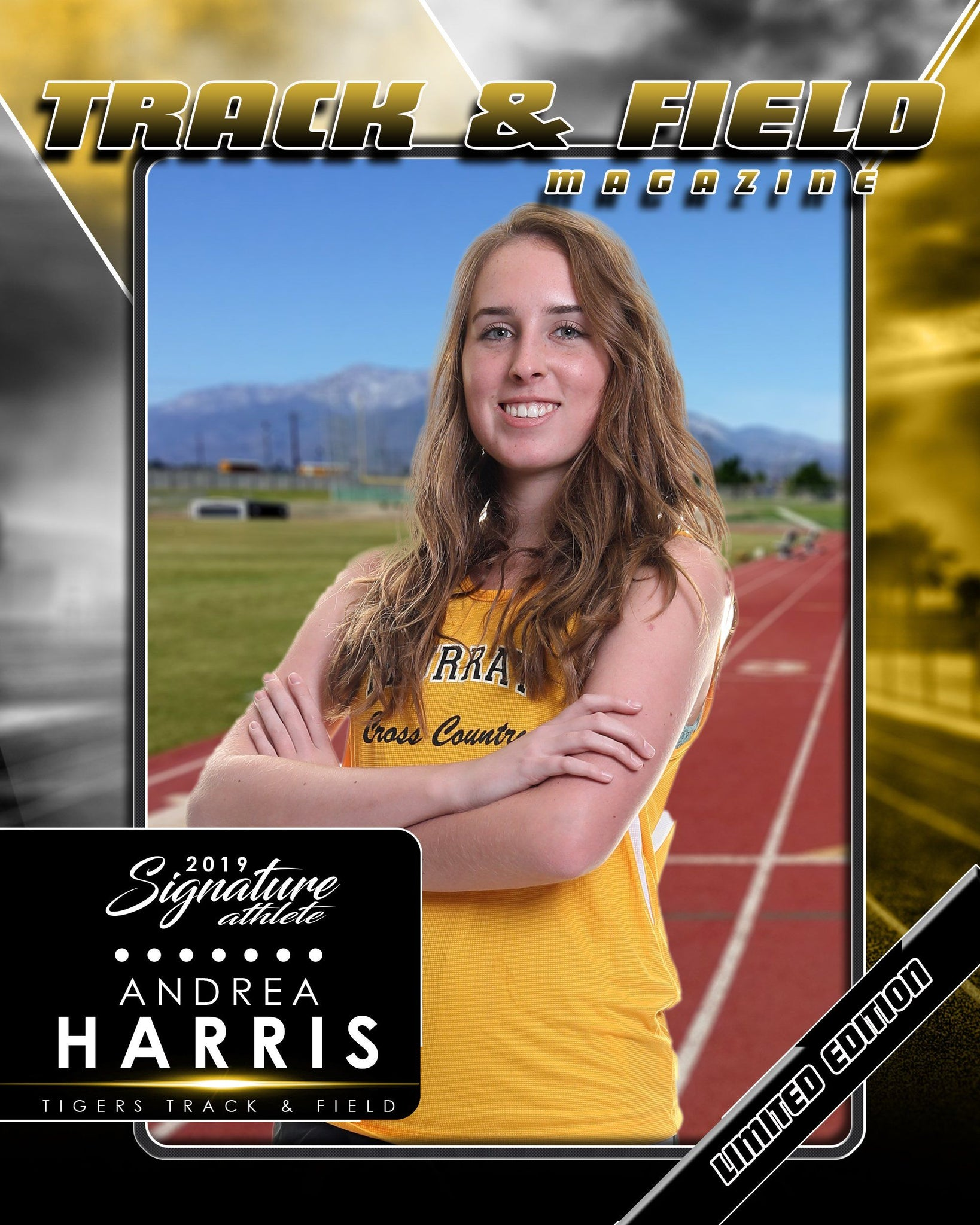 Signature Player - Track & Field - V2 - Drop-In Magazine Cover Template-Photoshop Template - Photo Solutions