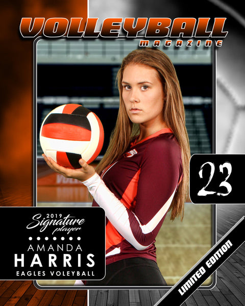 Signature Player - Volleyball - V1 - T&I Drop-In Collection-Photoshop Template - Photo Solutions