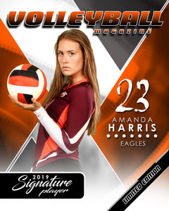 Signature Player - Volleyball - V2 - Extraction Magazine Cover Template-Photoshop Template - Photo Solutions