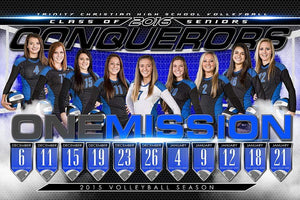 Volleyball - MVP Series - Season Schedule Template-Photoshop Template - Photo Solutions