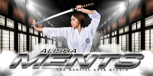 Dojo - MVP Series - 10x20 Individual Poster/Banner-Photoshop Template - Photo Solutions