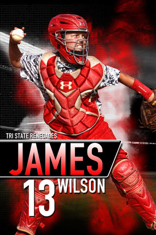 Center Field - MVP Series - Player Banner & Poster Template V-Photoshop Template - Photo Solutions
