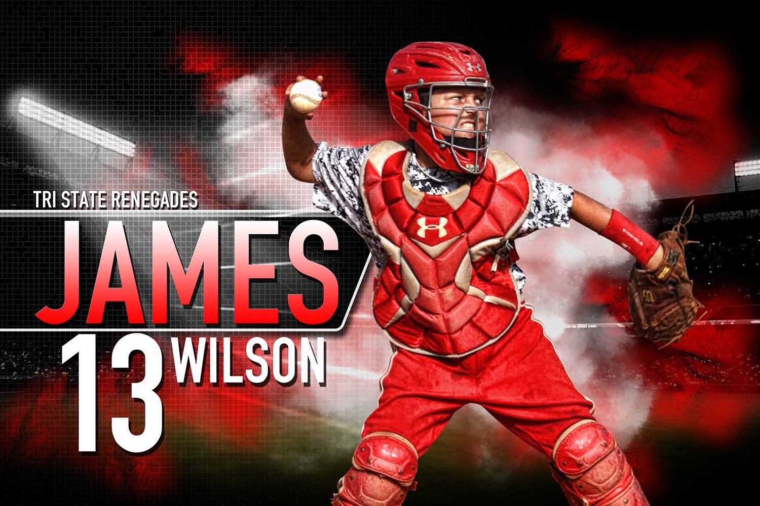 Center Field - MVP Series - Player Banner & Poster Template H-Photoshop Template - Photo Solutions