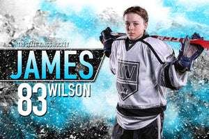 Center Ice - MVP Series - Player Banner & Poster Template H-Photoshop Template - Photo Solutions