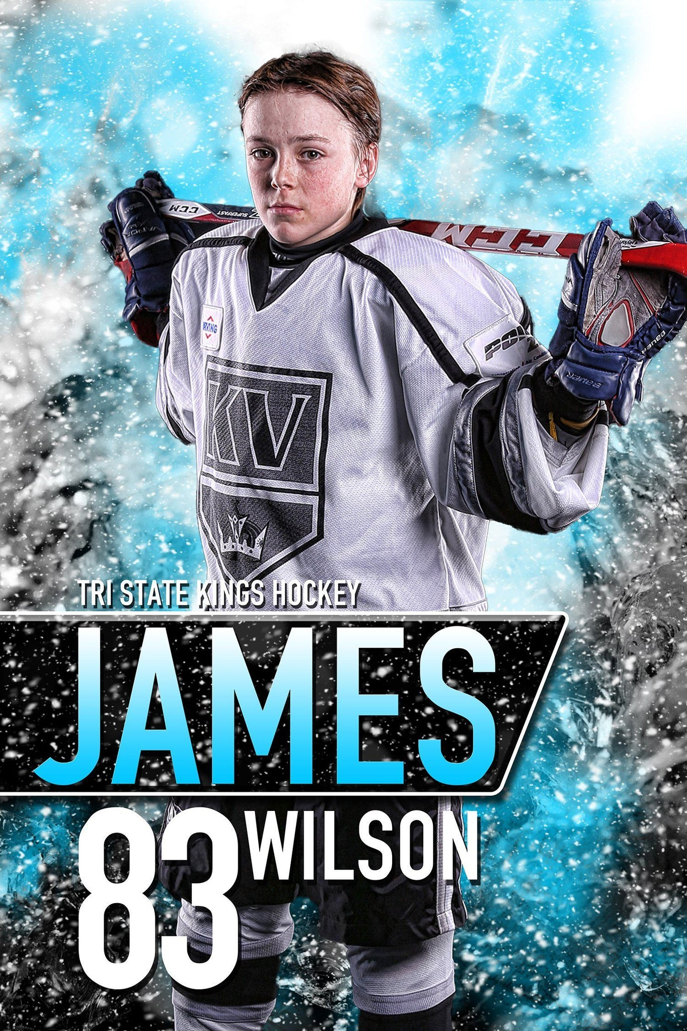 Center Ice - MVP Series - Player Banner & Poster Template V-Photoshop Template - Photo Solutions