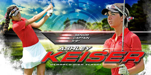 Golf - MVP Series - 10x20 Individual Poster/Banner-Photoshop Template - Photo Solutions
