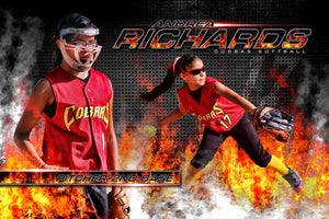 Hot Streak - MVP Series - Player Banner & Poster Template H-Photoshop Template - Photo Solutions