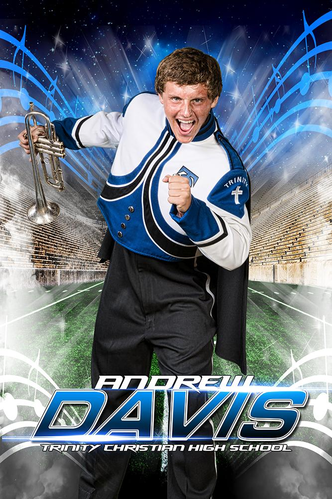 Marching Band - MVP Series - Player Banner & Poster Template V-Photoshop Template - Photo Solutions