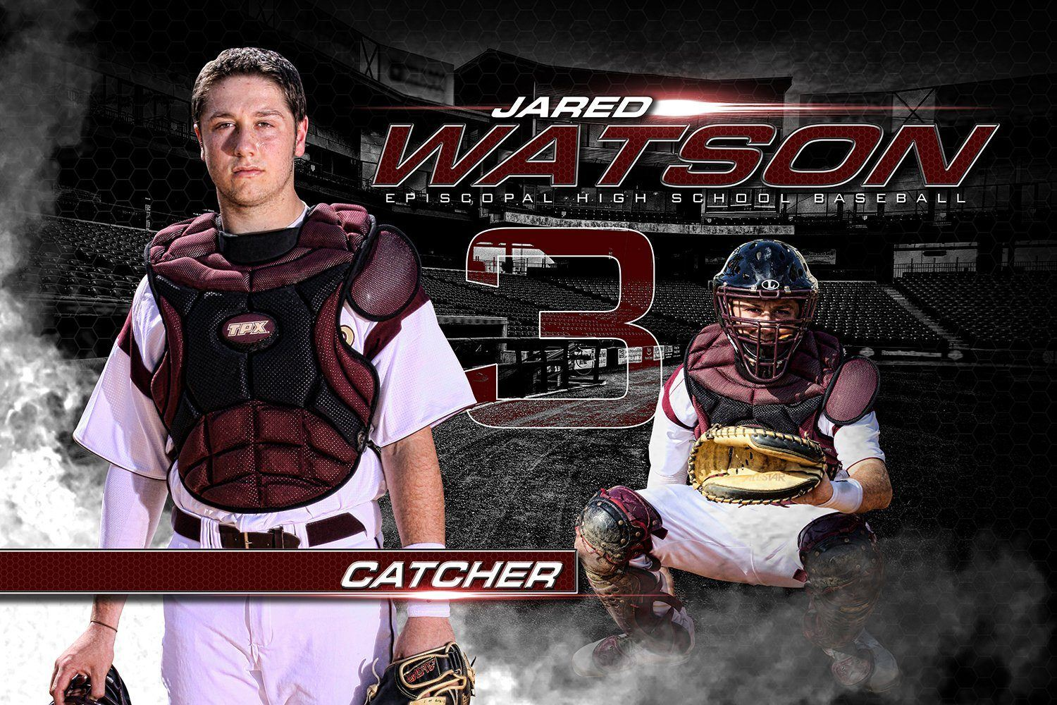 Play Ball - MVP Series - Player Banner & Poster Template H-Photoshop Template - Photo Solutions
