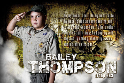 Boy Scouts - MVP Series - Player Banner & Poster Template H-Photoshop Template - Photo Solutions