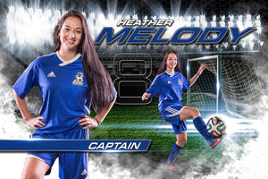 Soccer - MVP Series - Player Banner & Poster Template H Downloadable Template Photo Solutions PSMGraphix