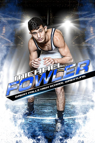 Take Down - MVP Series - Player Banner & Poster Template V-Photoshop Template - Photo Solutions