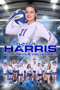 Under The Lights Volleyball - MVP Series - T&I Poster/Banner