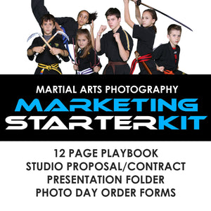 04 Martial Arts Studio Marketing - STARTER KIT Downloadable Template Photo Solutions PSMGraphix