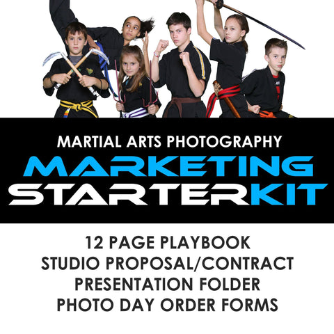 04 Martial Arts Studio Marketing - STARTER KIT Photoshop Template -  PSMGraphix