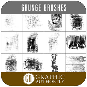 Masterpiece Grunge Photoshop ABR Brushes-Photoshop Template - Graphic Authority