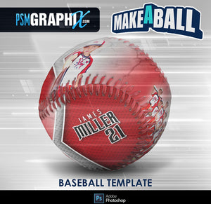 Metal - V.1 - Baseball - Make-A-Ball Photoshop Template-Photoshop Template - PSMGraphix