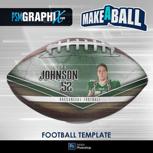 Metal - V.1 - Football (Full Size)  - Make-A-Ball Photoshop Template-Photoshop Template - PSMGraphix