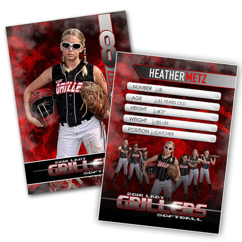 Cinema Series - Perfect Storm - Extraction Trading Card Template Photoshop Template -  PSMGraphix