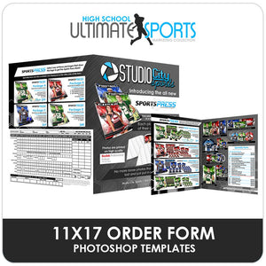 11x17 SportsPress Order Form - Ultimate High School Sports Marketing Templates Downloadable Template Photo Solutions PSMGraphix