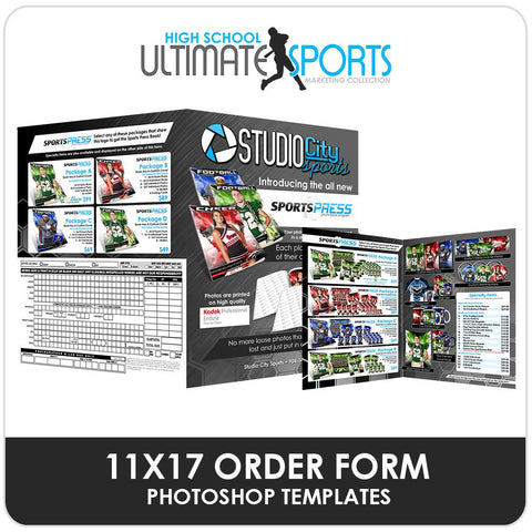 11x17 SportsPress Order Form - Ultimate High School Sports Marketing Templates