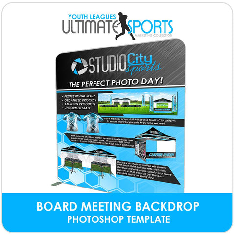 Board Meeting Backdrop - Ultimate Youth Sports Marketing Templates