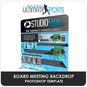 Board Meeting Backdrop - Ultimate High School Sports Marketing Templates