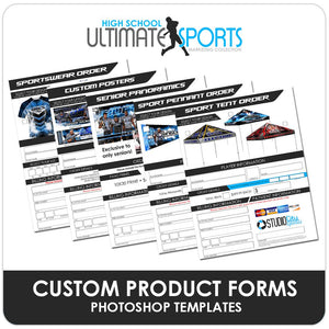 Custom Product Order Forms - Ultimate High School Sports Marketing Templates