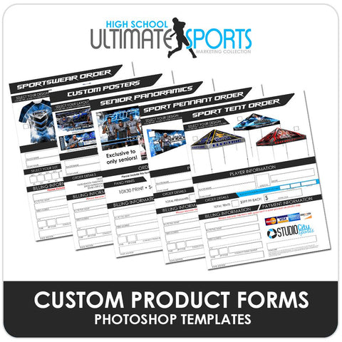 Custom Product Order Forms - Ultimate High School Sports Marketing Templates-Photoshop Template - Photo Solutions