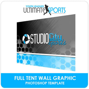 Full Tent Wall Graphic - Ultimate Youth Sports Marketing Templates-Photoshop Template - Photo Solutions
