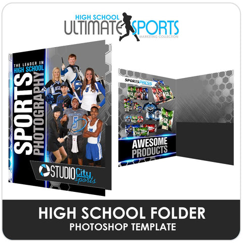 League Folder - Ultimate High School Sports Marketing Templates Downloadable Template Photo Solutions PSMGraphix