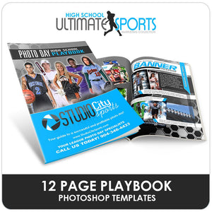 High School Sports Playbook - Ultimate High School Sports Marketing Templates Downloadable Template Photo Solutions PSMGraphix