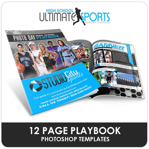 High School Sports Playbook - Ultimate High School Sports Marketing Templates-Photoshop Template - Photo Solutions