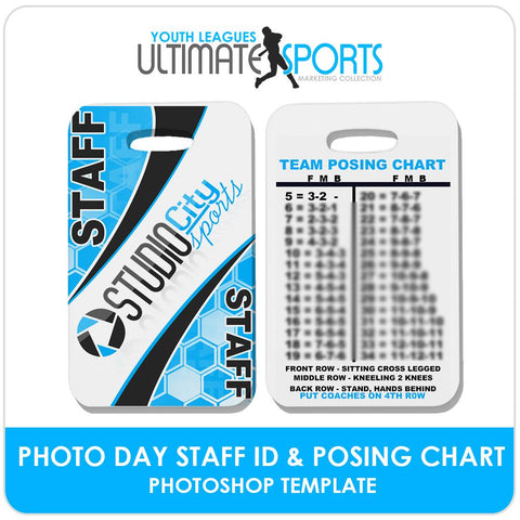 Staff ID Card & Posing Chart - Ultimate Youth Sports Marketing Templates-Photoshop Template - Photo Solutions
