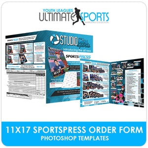 11x17 SportsPress Order Form - Ultimate Youth Sports Marketing Templates-Photoshop Template - Photo Solutions