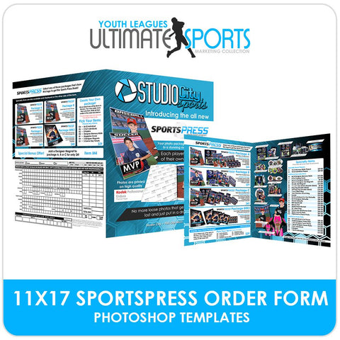 11x17 SportsPress Order Form - Ultimate Youth Sports Marketing Templates