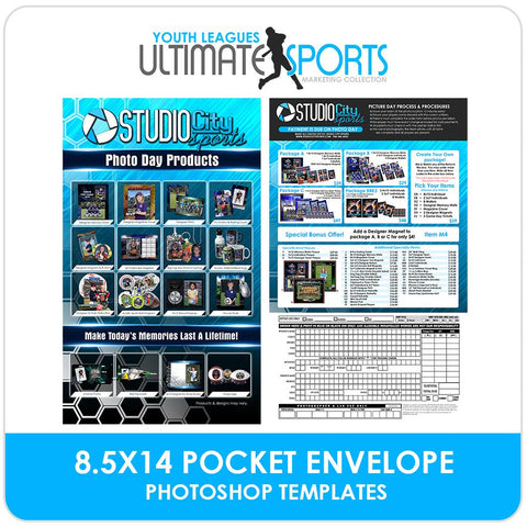 8.5x14 Pocket Order Form - Ultimate Youth Sports Marketing Templates-Photoshop Template - Photo Solutions