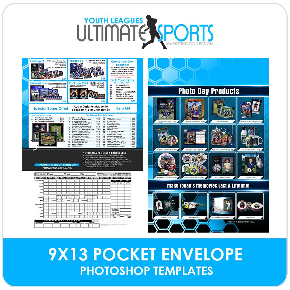 9x13 Pocket Order Form - Ultimate Youth Sports Marketing Templates-Photoshop Template - Photo Solutions
