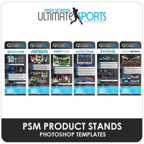 PSM Product Banner Stands - Ultimate High School Sports Marketing Templates-Photoshop Template - Photo Solutions