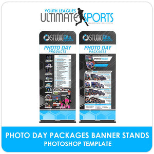 Photo Day Order Form Banner Stands - Ultimate Youth Sports Marketing Templates-Photoshop Template - Photo Solutions