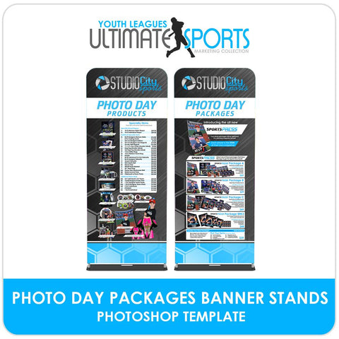 Photo Day Order Form Banner Stands - Ultimate Youth Sports Marketing Templates