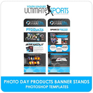 Custom Products & SportsPress Banner Stands - Ultimate Youth Sports Marketing Templates-Photoshop Template - Photo Solutions