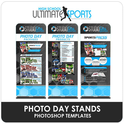 Photo Day Banner Program Banner Stands - Ultimate High School Sports Marketing Templates Downloadable Template Photo Solutions PSMGraphix