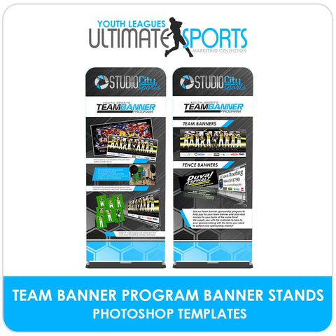 Team Banner Program Banner Stands - Ultimate Youth Sports Marketing Templates