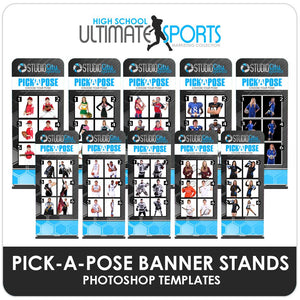 Pick A Pose Banner Stands - Ultimate High School Sports Marketing Templates-Photoshop Template - Photo Solutions