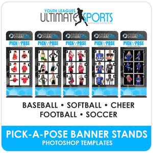 Pick A Pose Banner Stands - Ultimate Youth Sports Marketing Templates-Photoshop Template - Photo Solutions