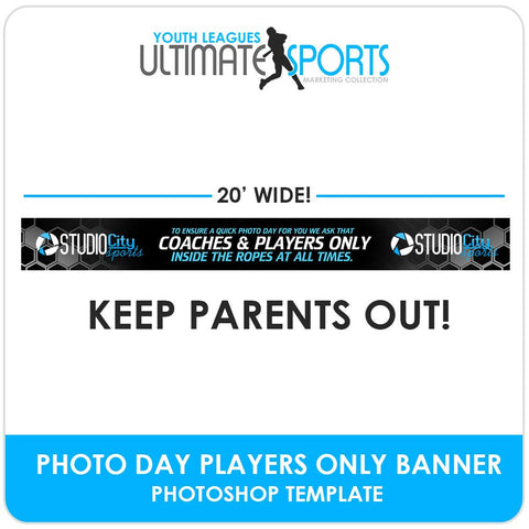 Coaches & Players Only Banner - Ultimate Youth Sports Marketing Templates