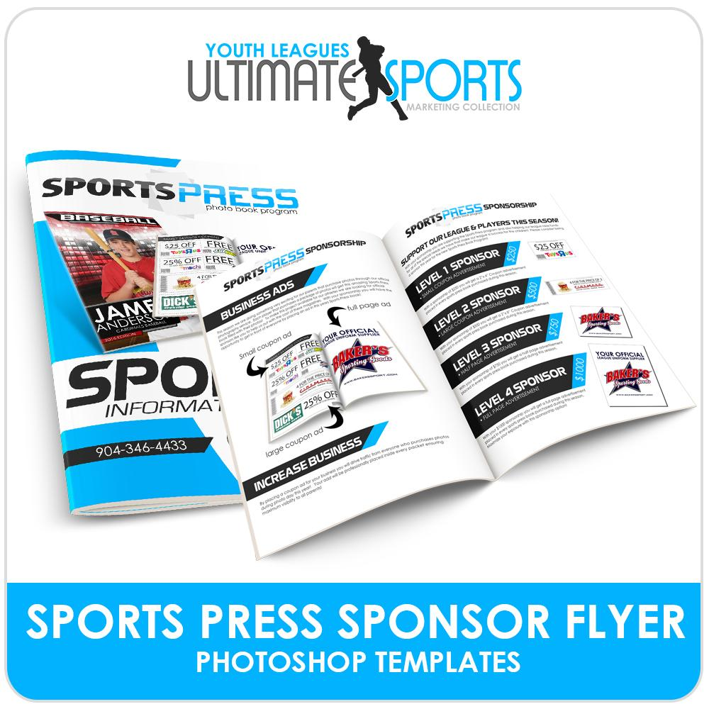 SportsPress Sponsor Brochure - Ultimate Youth Sports Marketing Templates-Photoshop Template - Photo Solutions