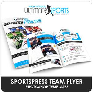SportsPress League Brochure - Ultimate High School Sports Marketing Templates-Photoshop Template - Photo Solutions